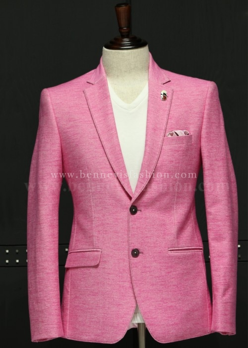 Pink Stylish Mens Blazer