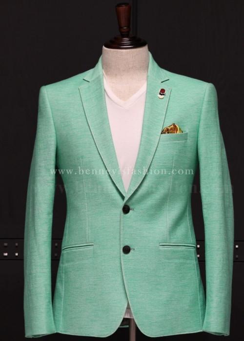 Pista green Stylish Mens Blazer