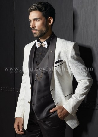 Classy White Terry Rayon Mens Suit