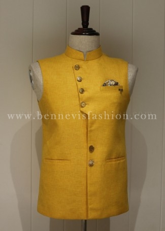 Traditional Yellow Waistcoat for Men