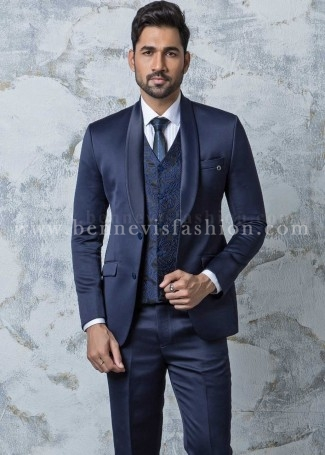 Blue Designer Mens Suit
