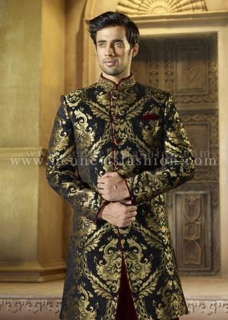 Stylish Black Sherwani for Men
