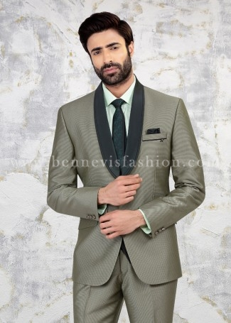 Green Terry Rayon Men Suit