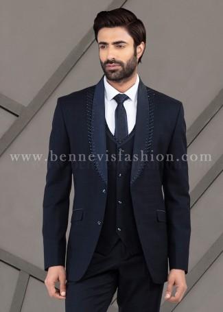 Dark Blue Wedding Suit for Mens
