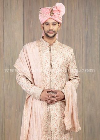 Silk Wedding Sherwani for Groom