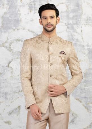 Fawn Jodhpuri suit for Men Wedding