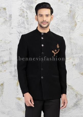 Bold Black Jodhpuri for Men