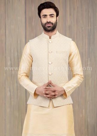 Fawn Lucknowi Bandi Set for Men
