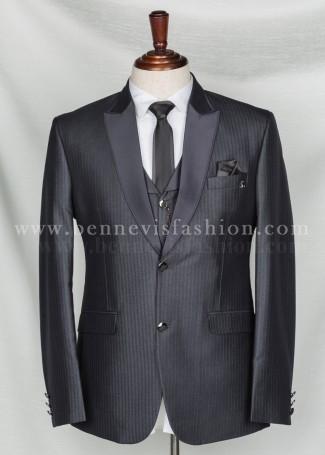Classic Stripes Grey Tuxedo for Men