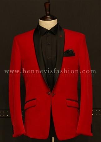 Red Velvet Mens Blazer