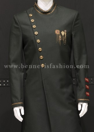 Elegant Black color Designer Sherwani