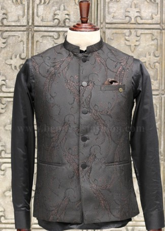 Stylish Black Bundi Jacket for Men.