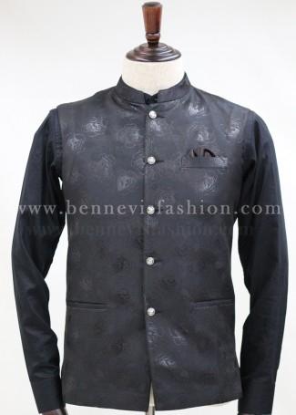 Stylish Black Bundi Jacket for Men